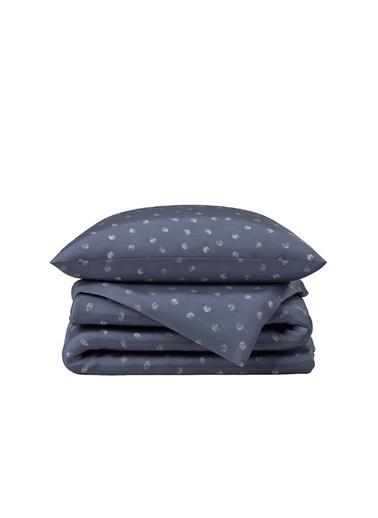 Hibboux 160x220 Dotted Pamuk Saten Nevresim + Yastık Kılıfı - Stone Renkli